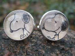 Christmas Gift Dad - snoopy cufflinks wedding men u0027s christmas gift dad silver