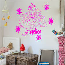 compare prices on rapunzel wall stickers online shopping buy low e231 princess rapunzel tangled wall stickers for kids room decor decor diy poster vinyl wall decal