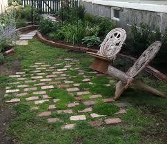 carey ezell landscape design brick patio with moss and crushables
