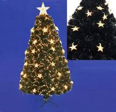 4ft 5ft 6ft black fibre optic tree with large warm