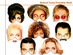 unique musical icons printable maskscostumesparty