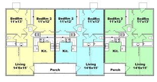 Floor Plan Source by Triplex Plan S820 3 Plansource Inc