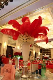 2016 diy ostrich feathers plume centerpiece weddings party table