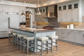 Kitchen Cabinets With Island Kitchen Paint Bellmont Cabinets With Classic Pendant Lighting And