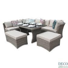 Garden Sofa Dining Set Rattan Garden Furniture L Shape Interior Design