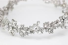 hair wreath wedding hair wreath halo in antiqued silver lynne