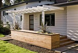 modern planters indoor exterior midcentury with clean deck