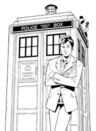 tardis colouring pages page pictur