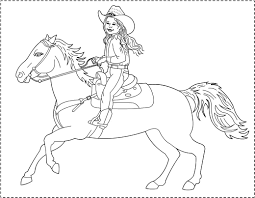 cowgirl coloring page printable pages click the cowboy boot free