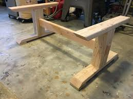 Trestle Coffee Table Trestle Coffee Table Free Diy Plans Rogue Engineer