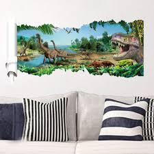 popular stickers wall jungle buy cheap stickers wall jungle lots cartoon dinosaurs wall stickers fancy wallpaper jurassic jungle wallpaper boys decals kids bedroom decoration vinyl stickers