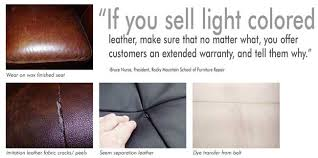 Leather Sofa Peeling Off Repair Leather Education Guide Part 2 Furniture World Magazine