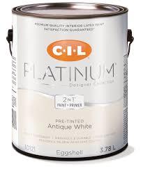 cil platinum interior paint pre tinted antique white 3 78 l