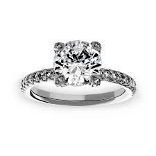 michael b engagement rings michael b prong solitaire engagement ring