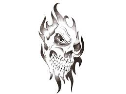 tribal skull tattoo design