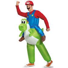 super mario bros inflatable mario riding yoshi costume
