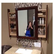 Bathroom Mirror Shelf by This Bathroom Mirror With Side Shelves On The Hunt