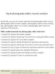 photo editor resume sample resume for editor positions editorial