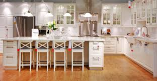 luxurious white wooden ikea kitchen cabinets on cool brown
