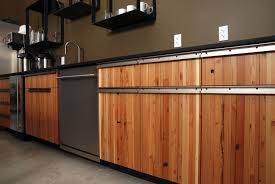 Material For Kitchen Cabinet Reclaimed Wood Kitchen Cabinets Recycled Things