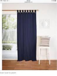 Navy Tab Top Curtains Koo Landon Tab Top Curtain Teal Blue 140 X 223 Cm Spotlight