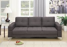 Convertible Sofa Beds F6831 Ash Black Convertible Sofa Bed By Poundex