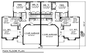 pencil drawing of exterior duplex house building plans and