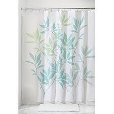 amazon com interdesign leaves fabric shower curtain 72 x 72 blue