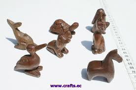 animal wood carvings handmade small wooden statues of different