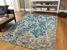 Rugs For Living Room Cheap Amazon Com Large Gray Rugs For Living Room Cheap 8x11 Ivory Blue
