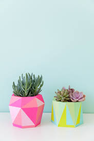 Succulent Planter Diy by Diy Painted Geo Pots An Easy Diy That Is Colorful And Fun