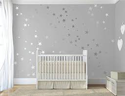 120 silver metallic stars nursery wall stickers nursery vinyl