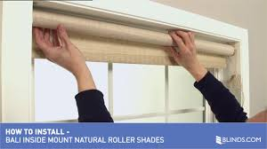 how to install bali natural roller shades inside mount u0026raquo