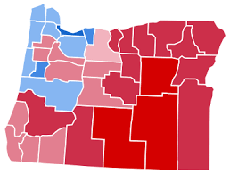 political map of oregon united states presidential election in oregon 2012