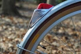 bicycle rear fender light creamy dreamy 650b conversion