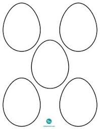 blank easter eggs useful egg templates for easter crafts tip save the pdf before