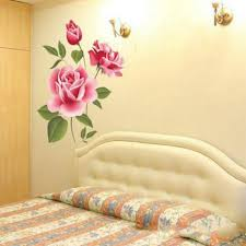 rose flower wall stickers removable decal home decor diy art