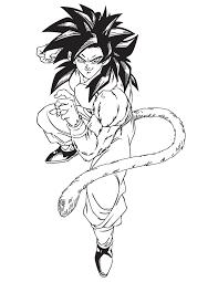 dragon ball coloring pages goku super saiyan 4 coloringstar