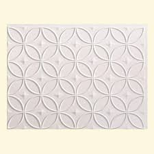 Decorative Backsplash Fasade 24 In X 18 In Rings Pvc Decorative Backsplash Panel In
