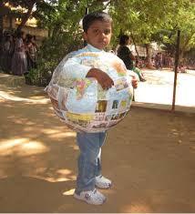 fancy dress competition u2013 earth pollution globe
