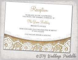 wedding reception cards rustic reception invitation template diy printable