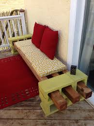 Diy Outdoor Rug With Fabric Diy Cinder Block Seating Inspired By Another Pinner I Used A