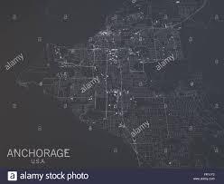 us map anchorage alaska anchorage map satellite view alaska united states stock photo