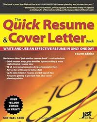 amazon com the quick resume u0026 cover letter book write and use an