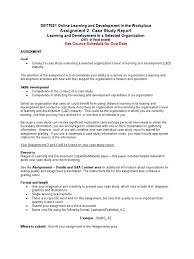 writing a case analysis paper dett621 a2 and rubric competence human resources learning