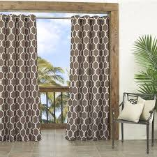 Brown Patterned Curtains Indoor Outdoor Curtains Displaying Beautiful Details That Can Be