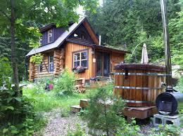 Small Cabin Packages Off Grid Cabin With A Tub Hells Yeah Cabin Pinterest