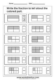free fraction worksheets frugal homeschool family fractions
