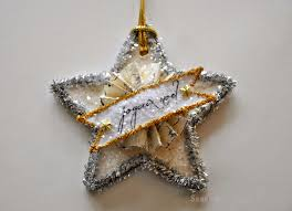 serendipity refined blog vintage style glitter star ornament day 5