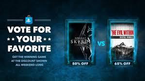 ps store black friday vote for your favorite the elder scrolls v skyrim vs the evil